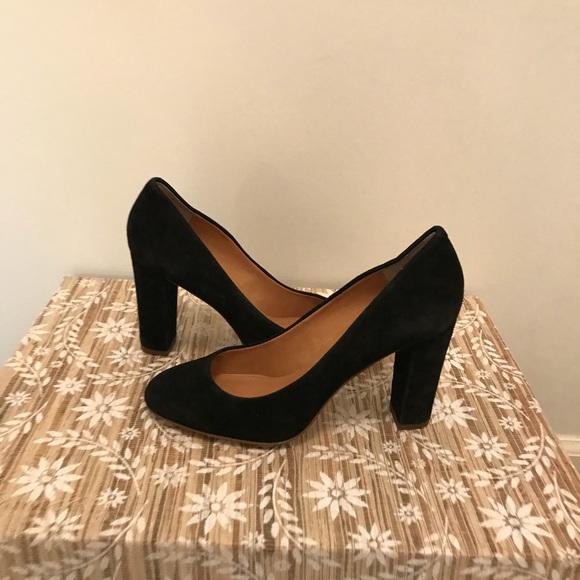 742990392e2d J. Crew Shoes - Black Suede J. Crew Heels